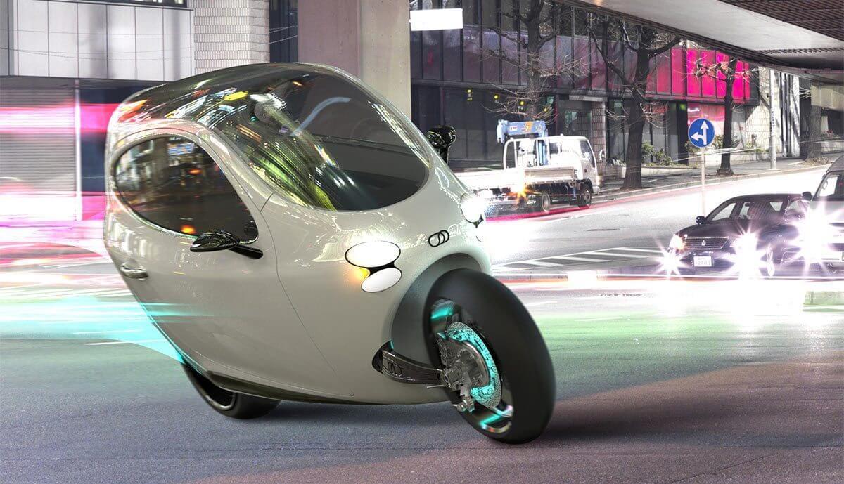smt litmotorsc1 transito - Meio moto, meio carro, o C-1 da Lit Motors pode revolucionar a forma de se locomover pela cidade
