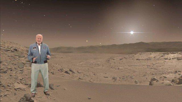 Buzz Aldrin holográfico será o guia em Marte