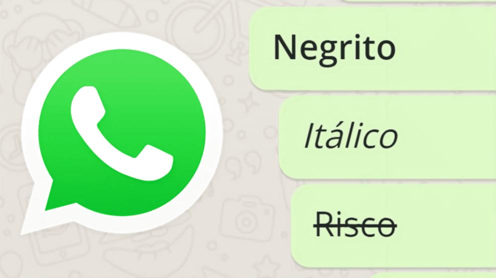Como escrever em negrito, itálico ou tachado (riscado) no WhatsApp