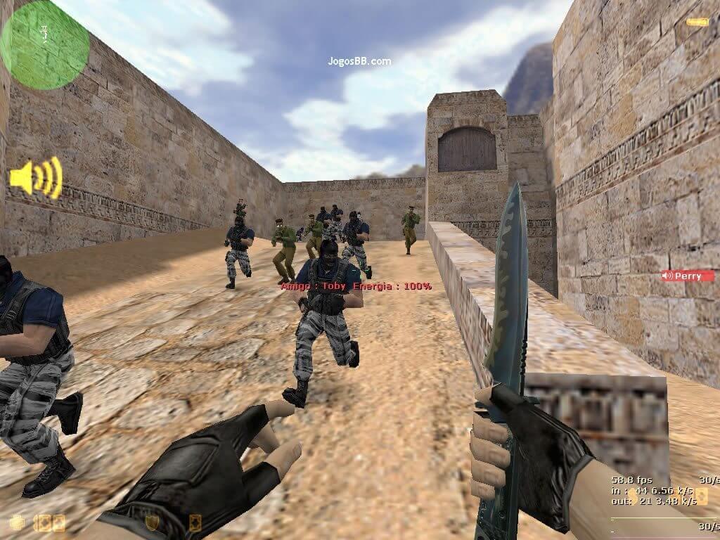 counter strike 16 faquinha - Olha a faquinha: Agora você pode jogar Counter-Strike 1.6 no Android