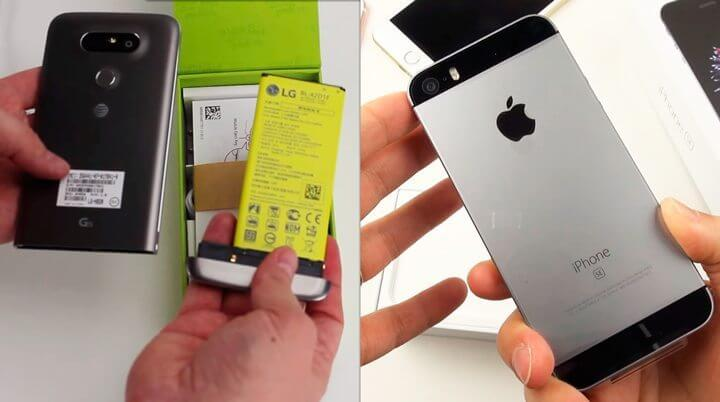 unboxing iphone lg g5 - Confira o vídeo unboxing dos novos LG G5 e iPhone SE