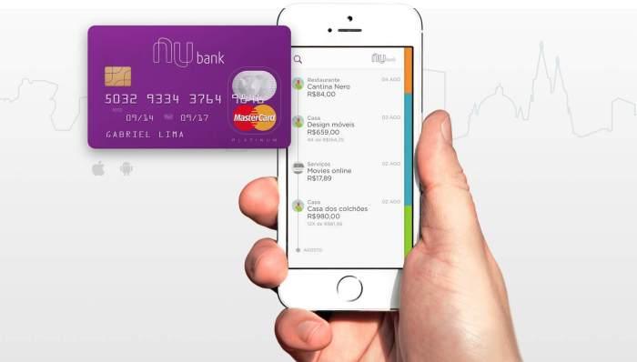 Nubank: cartão de crédito sem burocracia e controlado por aplicativos.