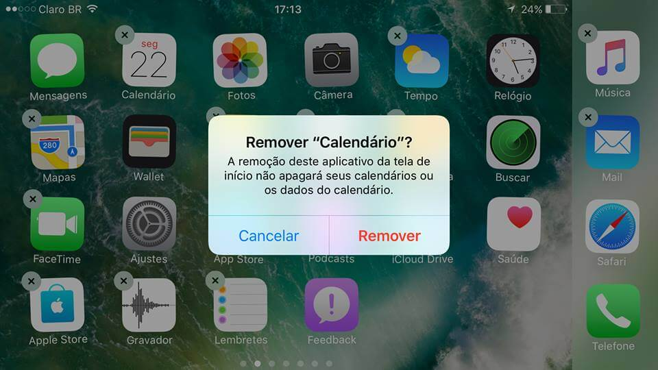 Tutorial  Aprenda a apagar e restaurar aplicativos nativos do iPhone 7 166232e136