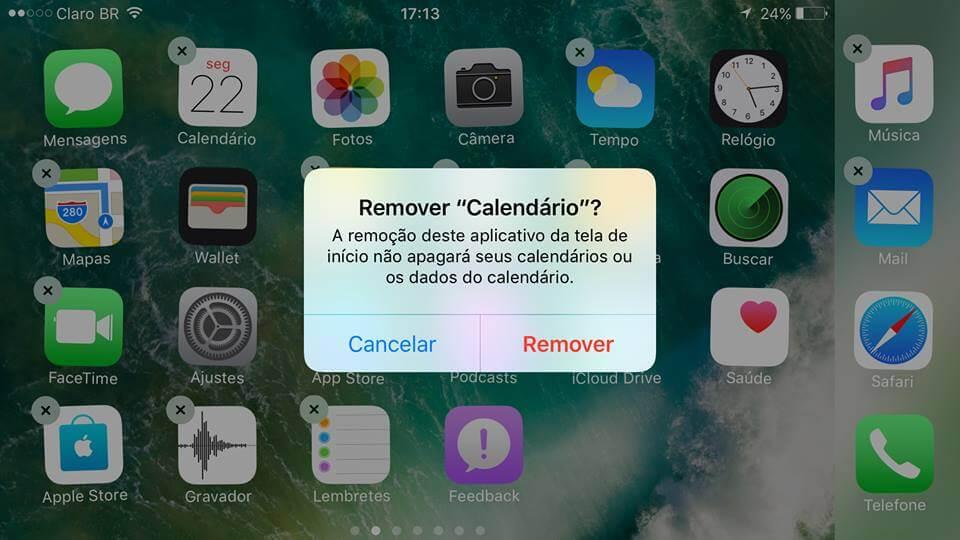 Tutorial  Aprenda a apagar e restaurar aplicativos nativos do iPhone 7 ce7b3a1c46