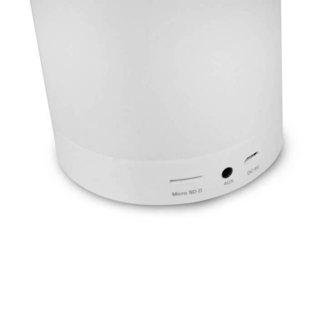 404010130100 04 SPEAKER BLUET C LAMP LED LUMINUS SP BL1000WH - Luminus (SP-BL1000WH): luminária LED que também é caixa de som Bluetooth