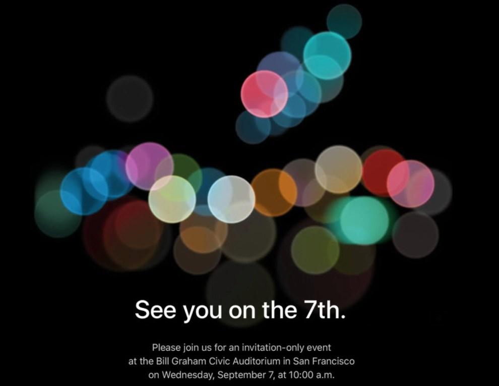 Keynote do iPhone 7 já tem data divulgada pela Apple