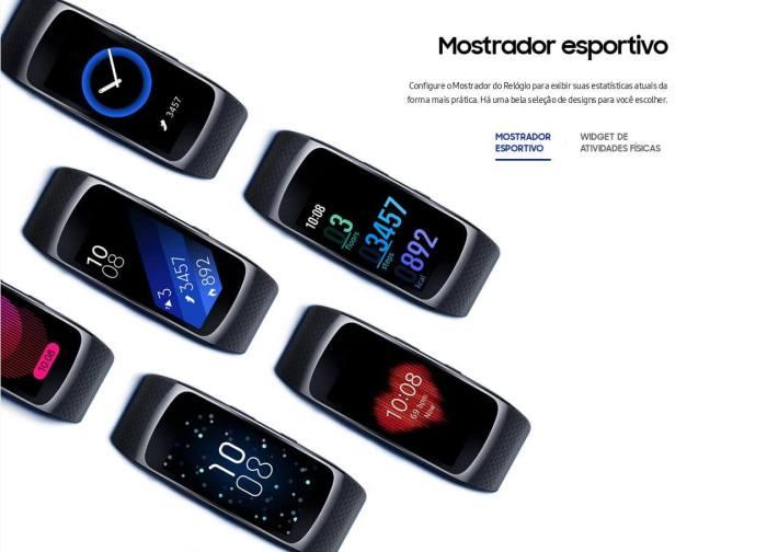 Gear fit 2 watchfaces 720x518 - Review: Samsung Gear Fit2, para monitorar atividades com estilo
