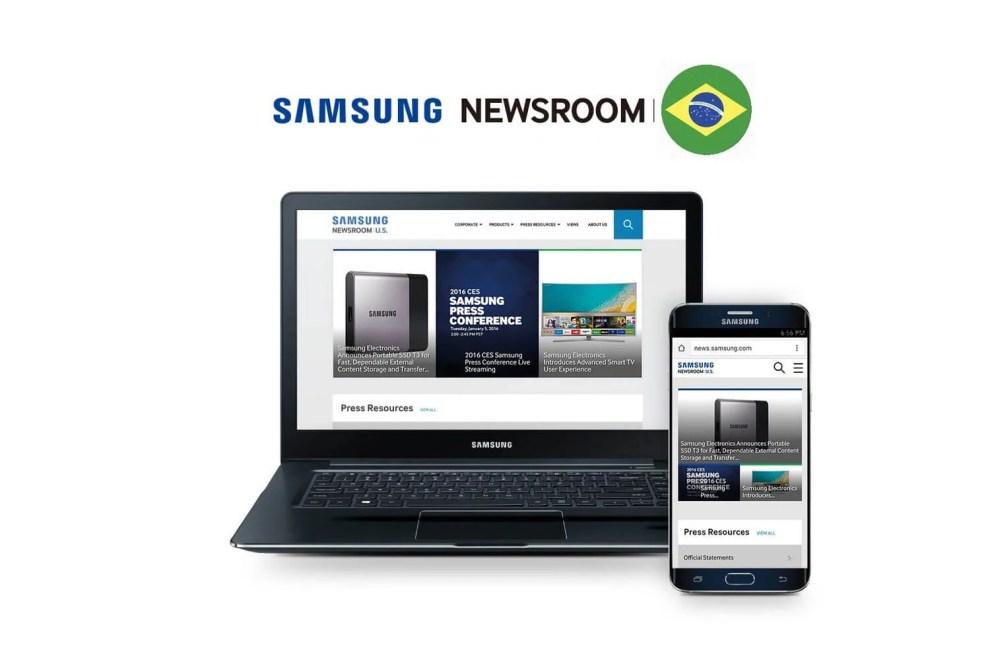 Samsung Newsroom Brasil Capa - Samsung Newsroom Brasil é o novo portal de notícias e conteúdo digital da empresa