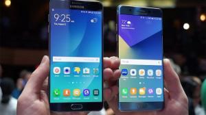 Comparativo em infográfico sobre o Galaxy Note7 e Galaxy Note5