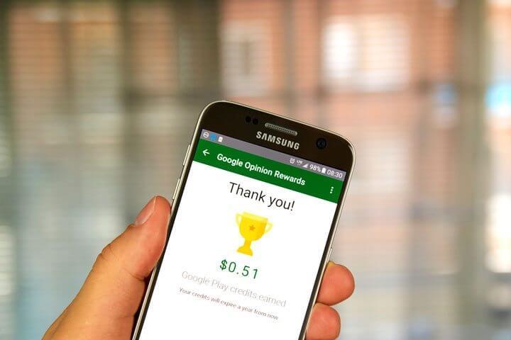 ativar créditos do Google Opinion Rewards