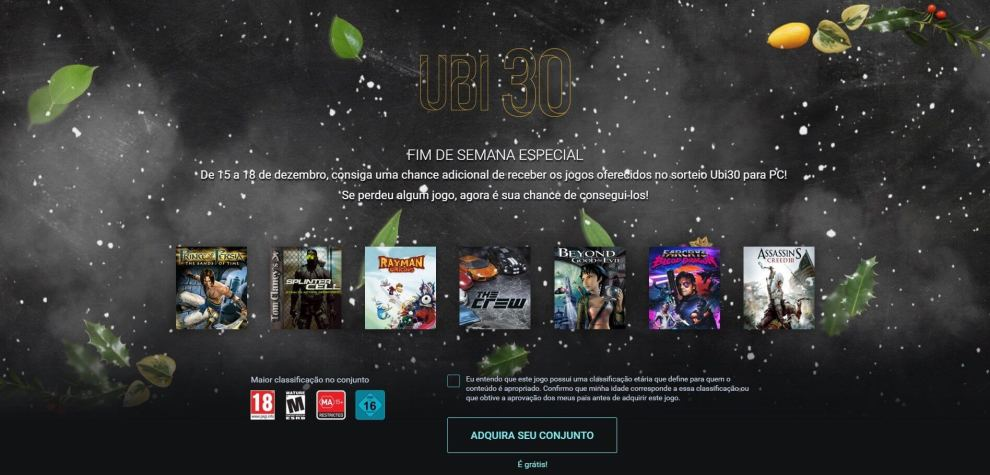 Ubi30 ultima chance - Ubi 30: 7 jogos grátis da Ubisoft