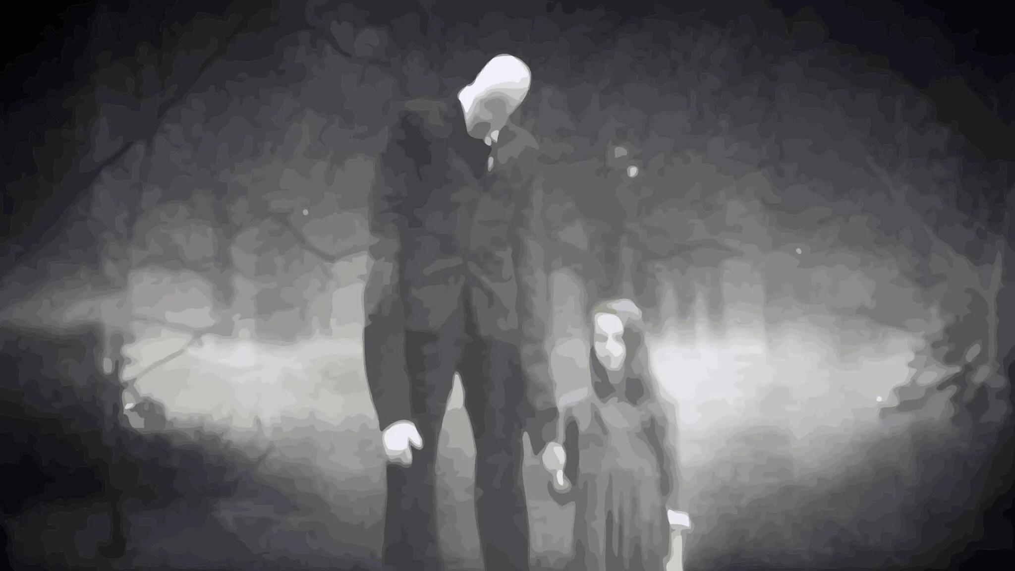 slenderman with child - Ciência vs. Crendices: O que são os Espíritos do Sono?