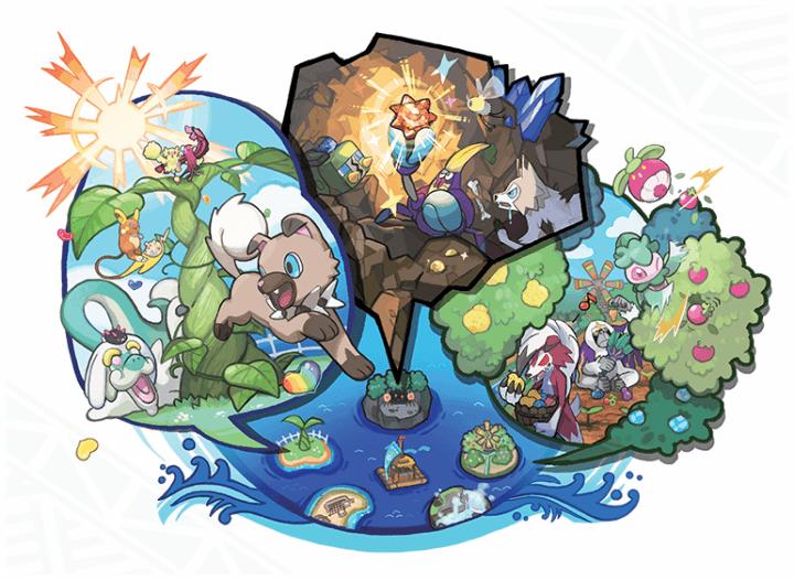 pokepelago 770x562 720x526 - Veja onde encontrar as pedras de evolução em Pokémon Sun & Moon