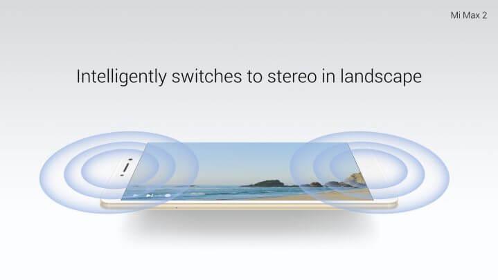 Mi Max 2 adota o modo estéreo ao ser colocado na horizontal