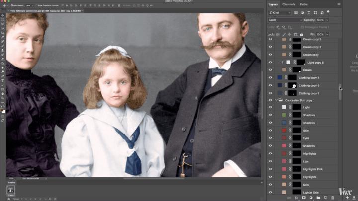 Tecnologia auxilia artista a colorirem fotos em preto em branco