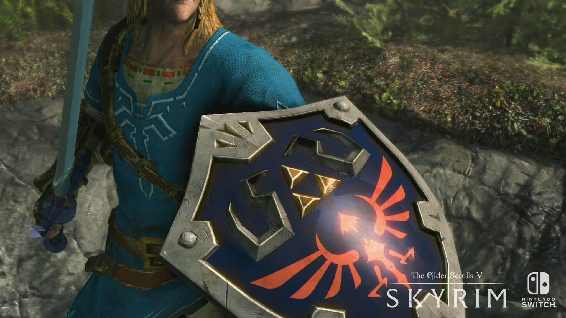 zelda skyrim switch - E3 2017: Skyrim para Nintendo Switch é anunciado com novidades de Legend Of Zelda