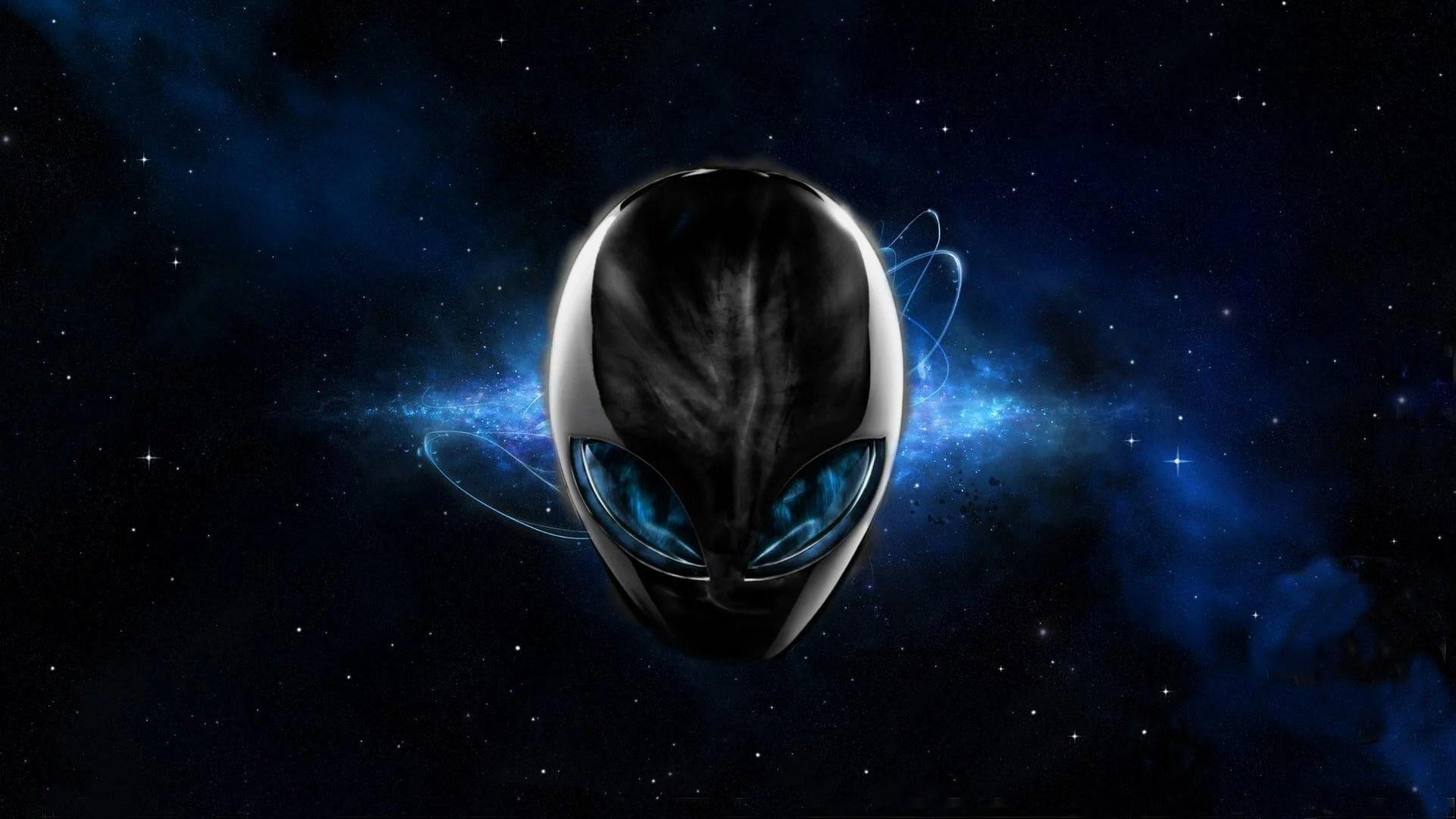 Alienware Desktop Background Blue Space Alienware Head 1920x1080 - Dell lança linha gamer de acessórios e monitores Alienware no Brasil