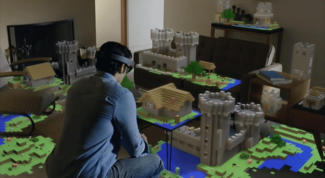 Minecraft hololens - Como a Apple, Google e Microsoft estão construindo um futuro AR