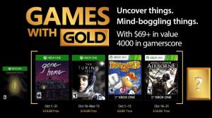 Games with Gold: jogos grátis na Live para outubro de 2017