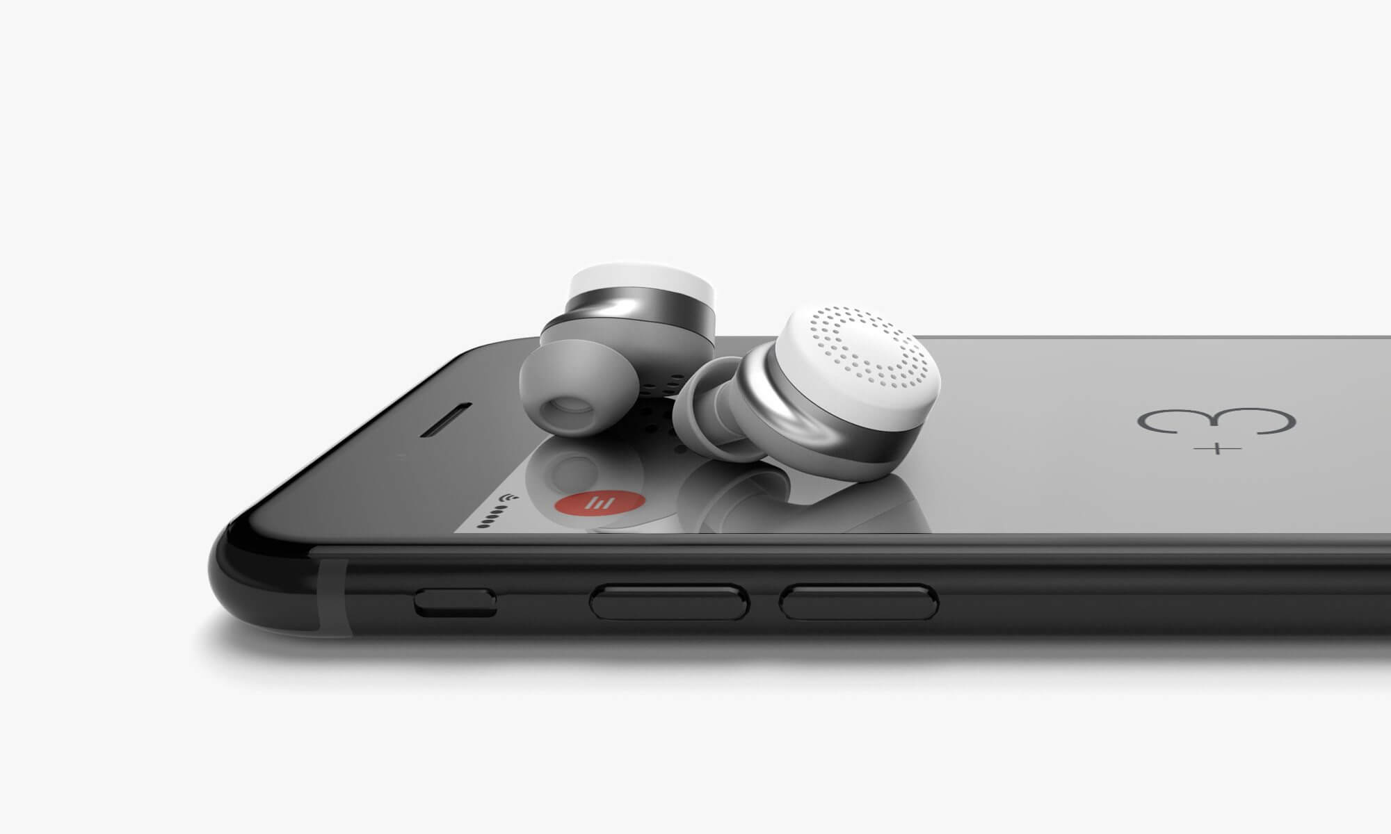 Here One Product White Phone2 - Here One: o fone de ouvido que bloqueia sons externos selecionados