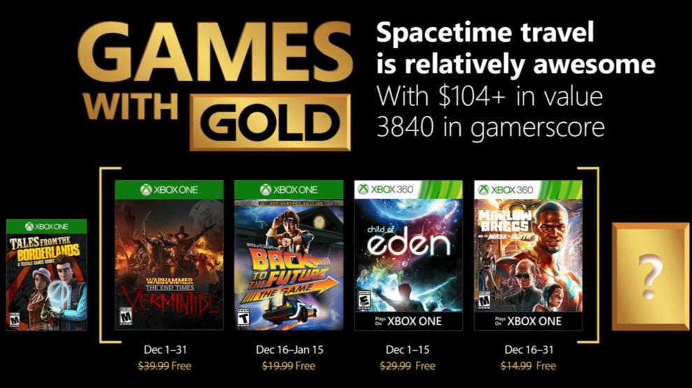 Games with Gold: jogos grátis na Live para dezembro de 2017