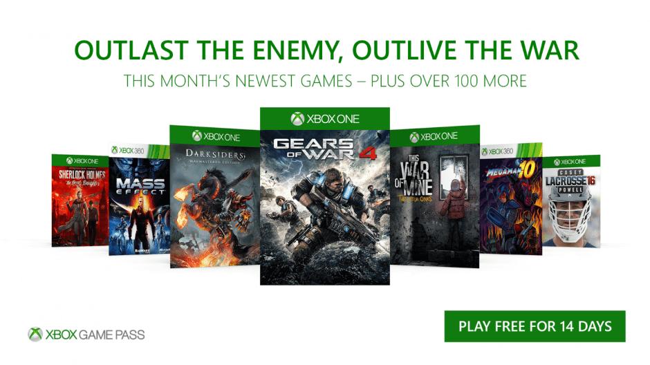 Xbox Game Pass: sete novos jogos para dezembro de 2017