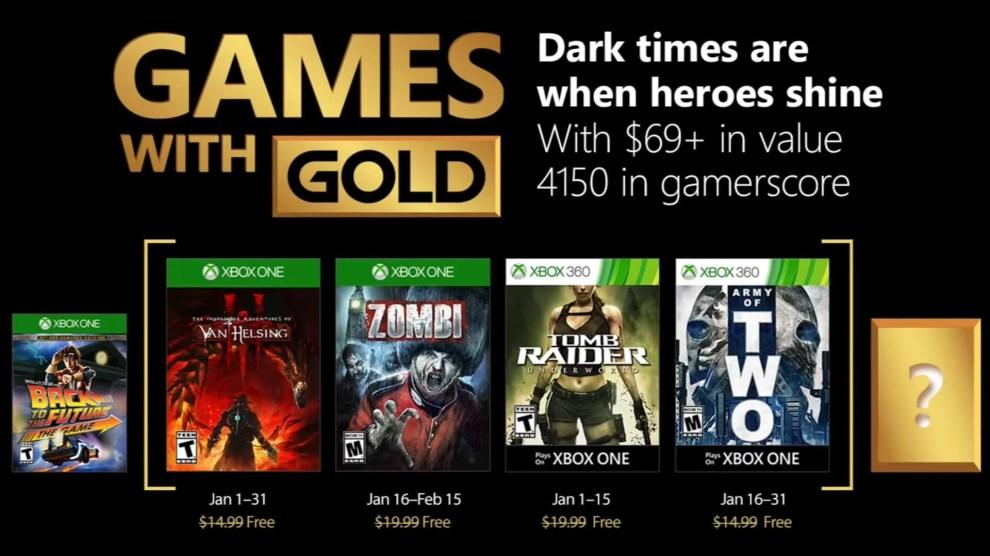 Games with Gold: jogos grátis na Live para janeiro de 2018