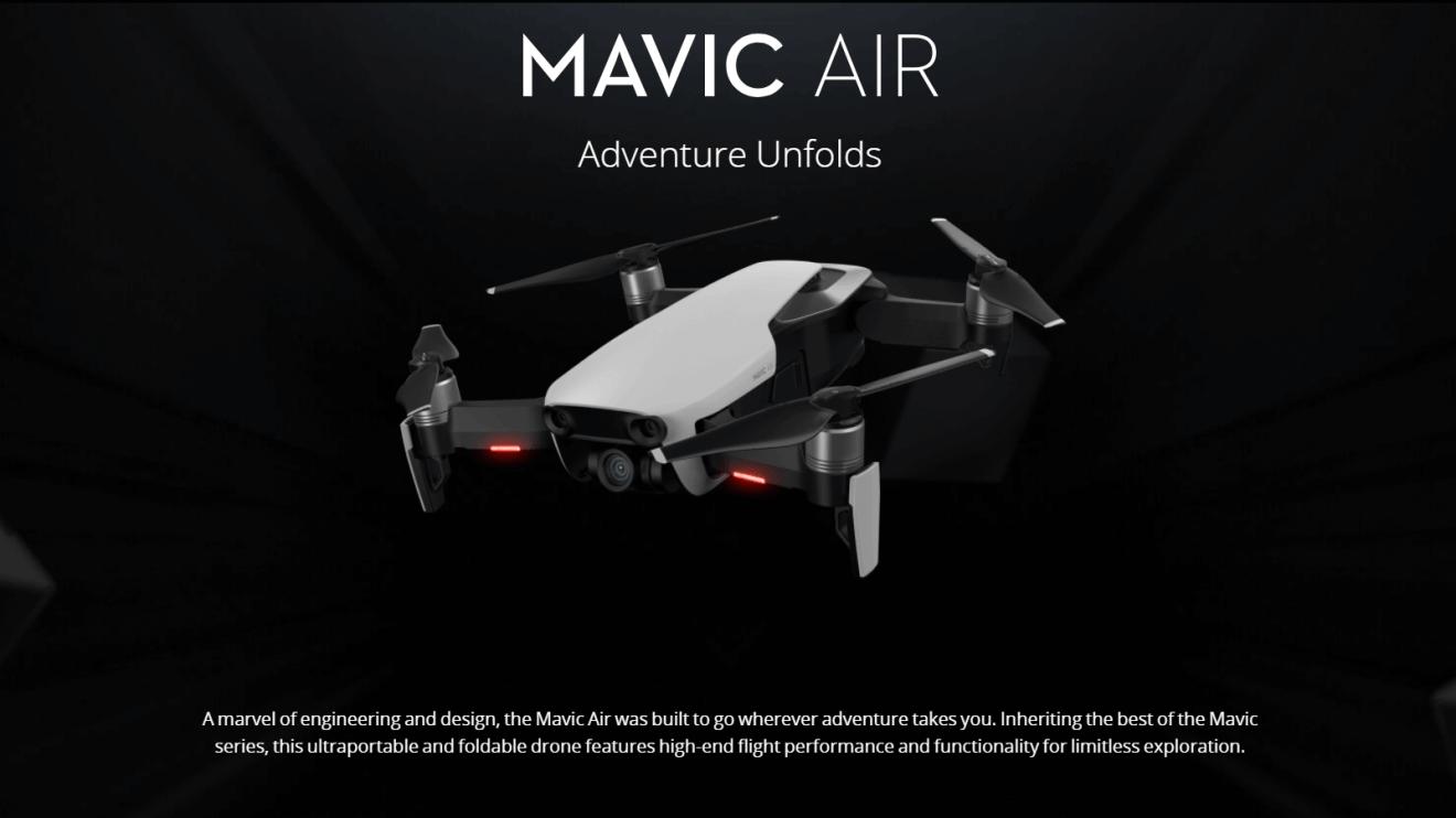 DJI lança Mavic Air, o drone compacto e poderoso