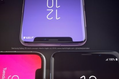 Assim seria o Galaxy S9 se ele tivesse o notch do iPhone X 10