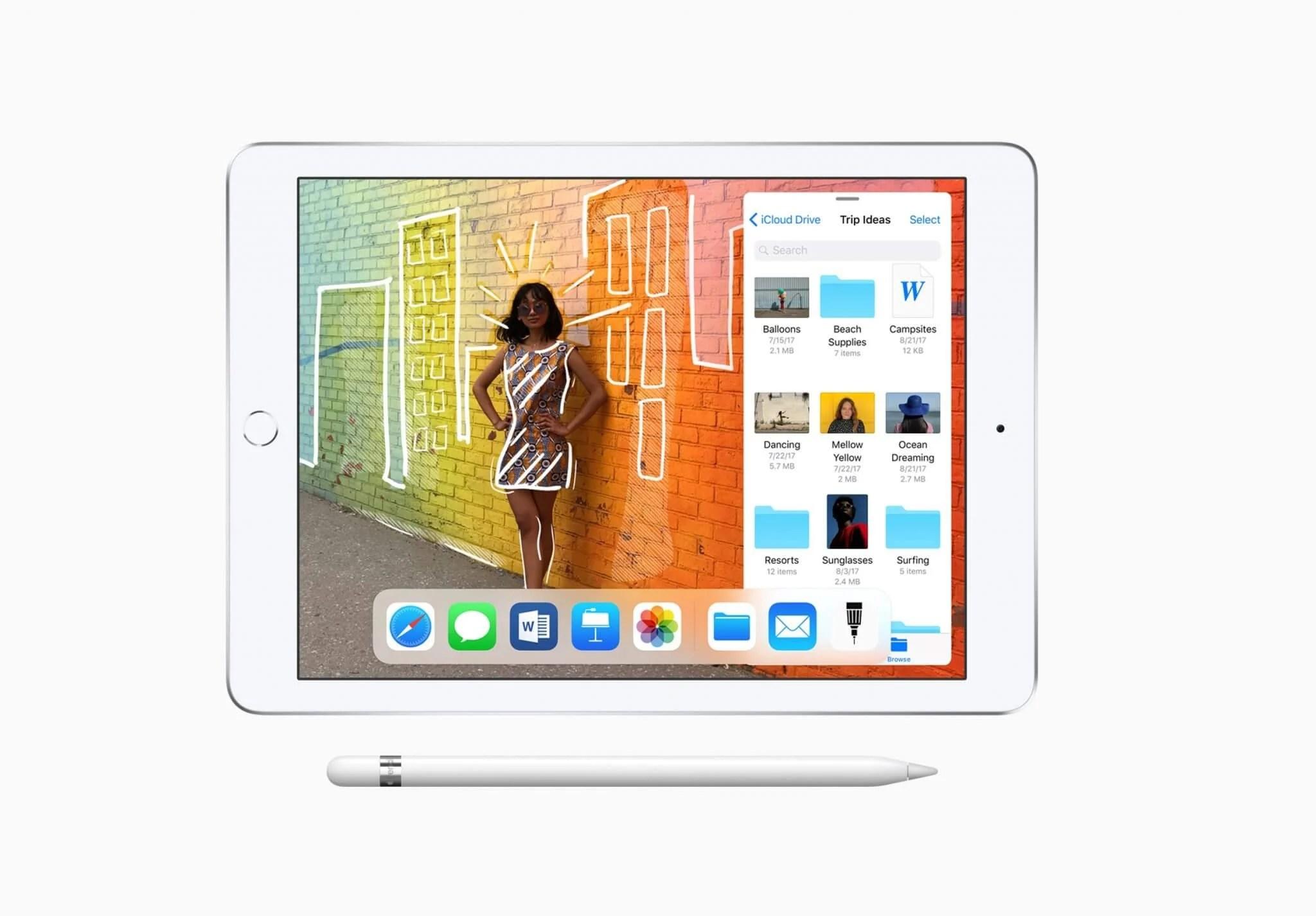 iPad 9 7 inch Pencil Slider 32718 - Apple: mais barato, novo iPad chega com foco em estudantes