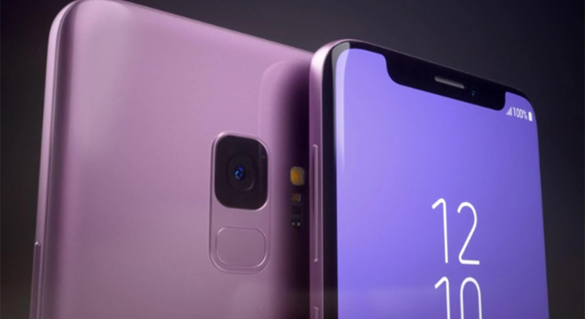 samsung 1 - Assim seria o Galaxy S9 se ele tivesse o notch do iPhone X