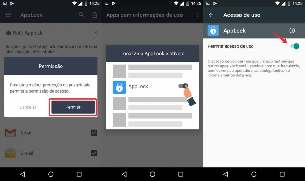 Como usar um AppLock para por senha em seus aplicativos e tirar selfies de invasores 9