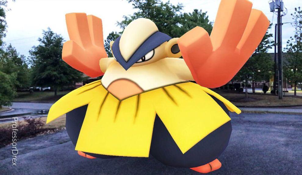 hariyama - Pokémon GO ganha evento com Pokémon lutadores