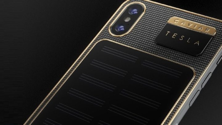 Da Caviar, conheça o iPhone X Tesla, capa para iPhone com painel solar 8
