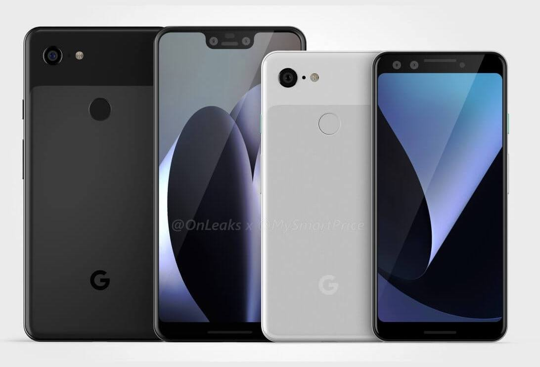 google pixel 3 xl leak cad 1 2 - Google Pixel 3 e Pixel 3 XL aparecem em imagens renderizadas