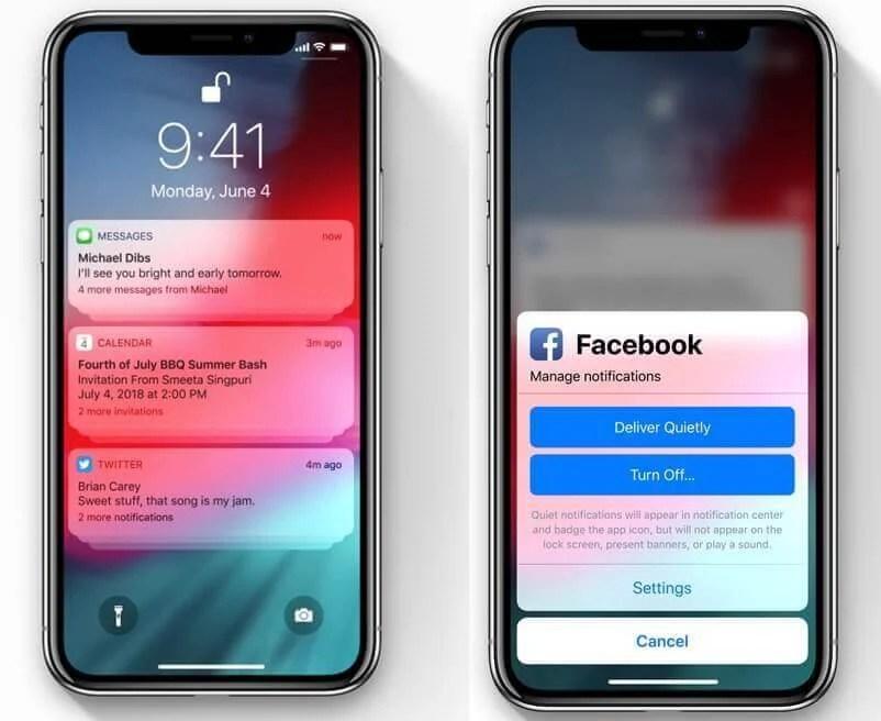 notificações ios 12 1 - Primeiro beta público do iOS 12 é liberado pela Apple