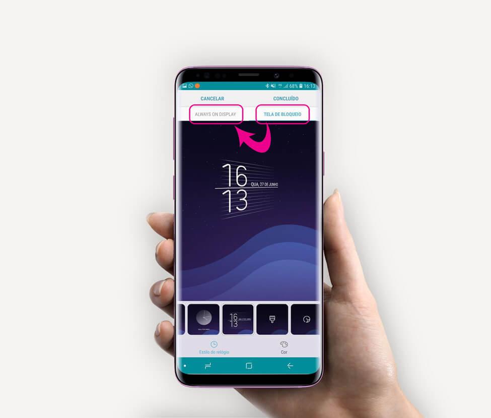 Tutorial: use Clock Face para alterar o estilo do relógio do Samsung Galaxy 8