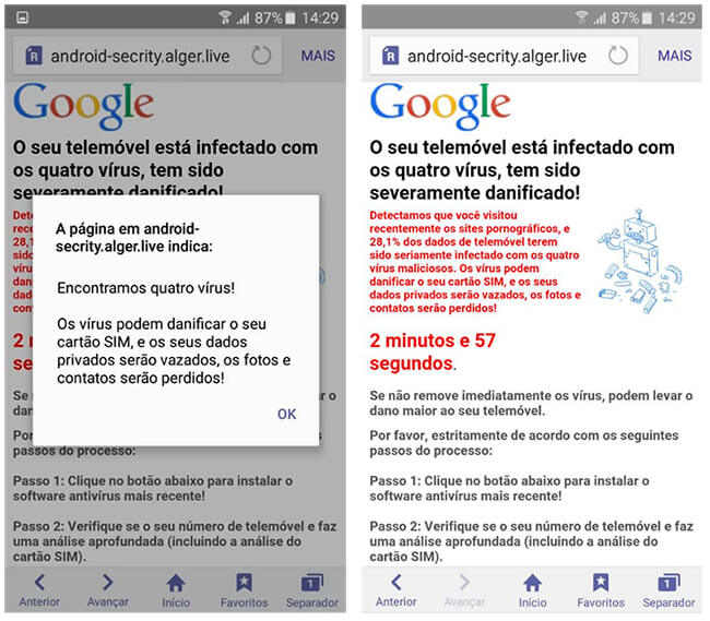 """Como remover o falso aviso dos """"quatro vírus"""" do seu Android 8"""