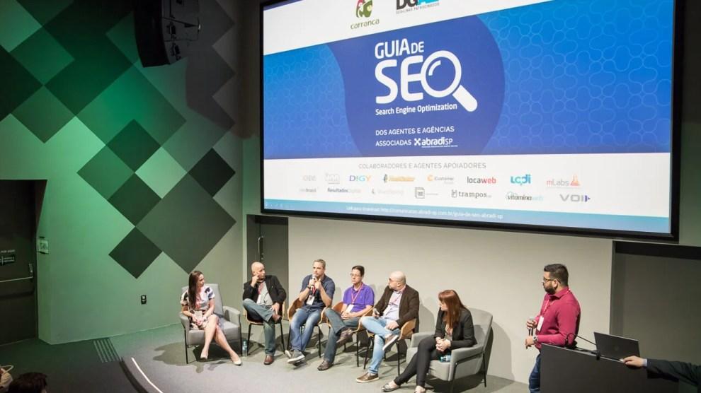 Lançamento do Guia de SEO da Abradi-SP junto a DGAZ Marketing e outras 6 agências