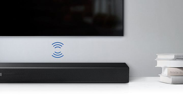 Samsung 2897670561 ca feature wireless connection with tv 61628984 720x375 - Home Theater ou Soundbar: qual é a melhor opção para a sua sala?