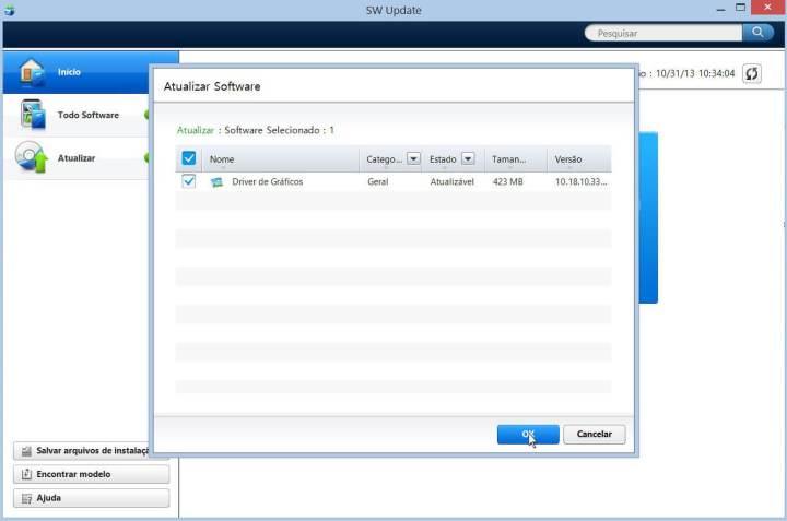Como atualizar um notebook através do Samsung Update 6