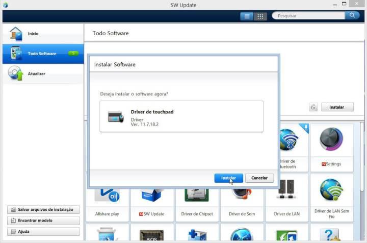 Como atualizar um notebook através do Samsung Update 8