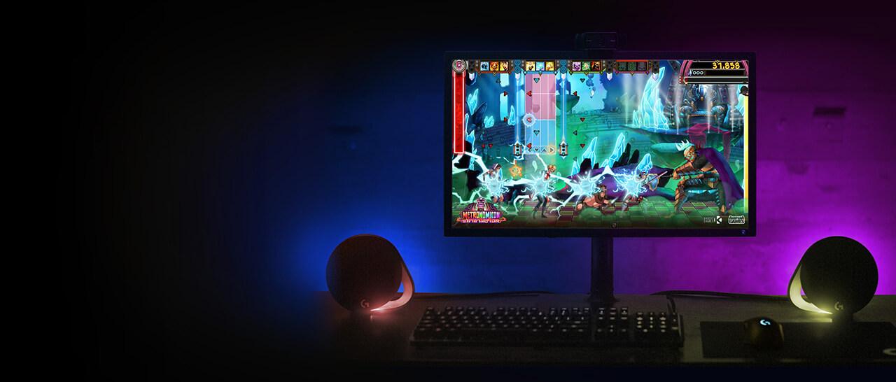 logitech - Logitech lança no Brasil speaker G560 com LEDs que se ajustam ao seu game