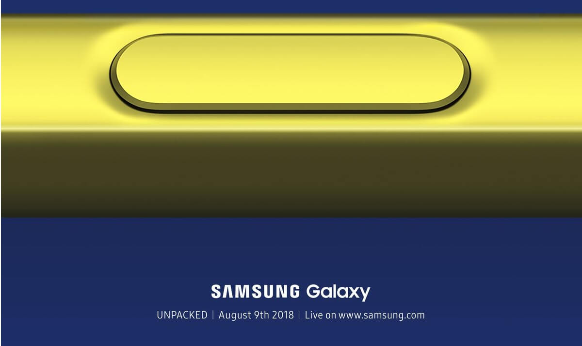 01. Galaxy Unpacked Official Invitation.0 - Como assistir ao lançamento do Galaxy Note 9