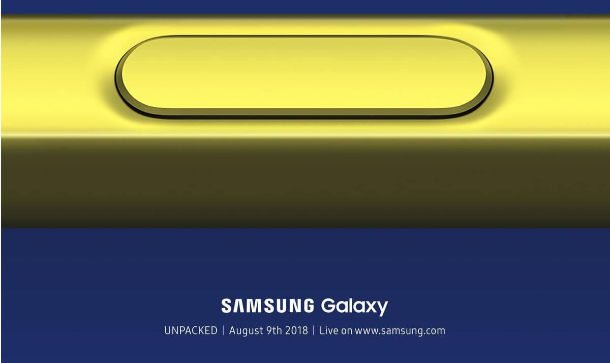 01. Galaxy Unpacked Official Invitation.0 - Como assistir ao lançamento do Galaxy Note 9