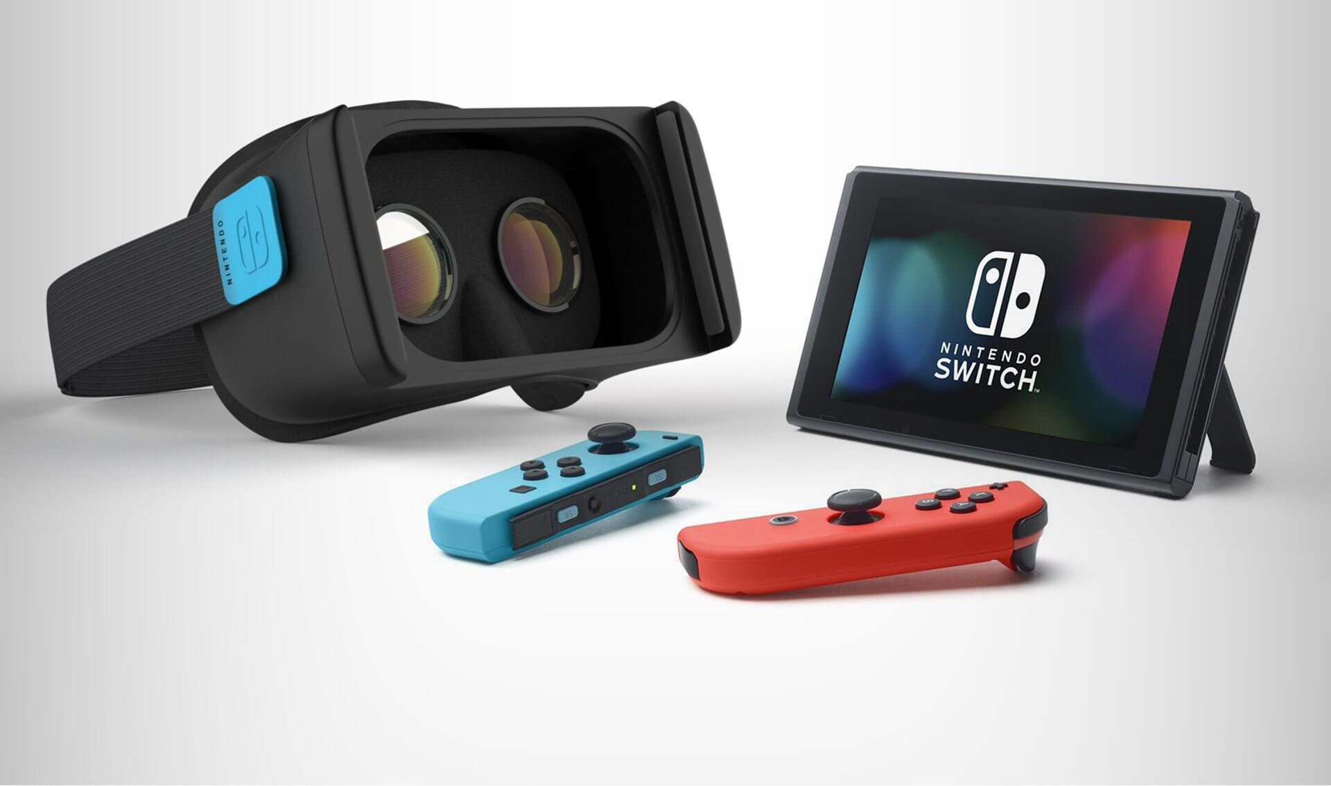 a mock up of how a switch vr headset might look.original - Rumor sugere modo de realidade virtual no Nintendo Switch