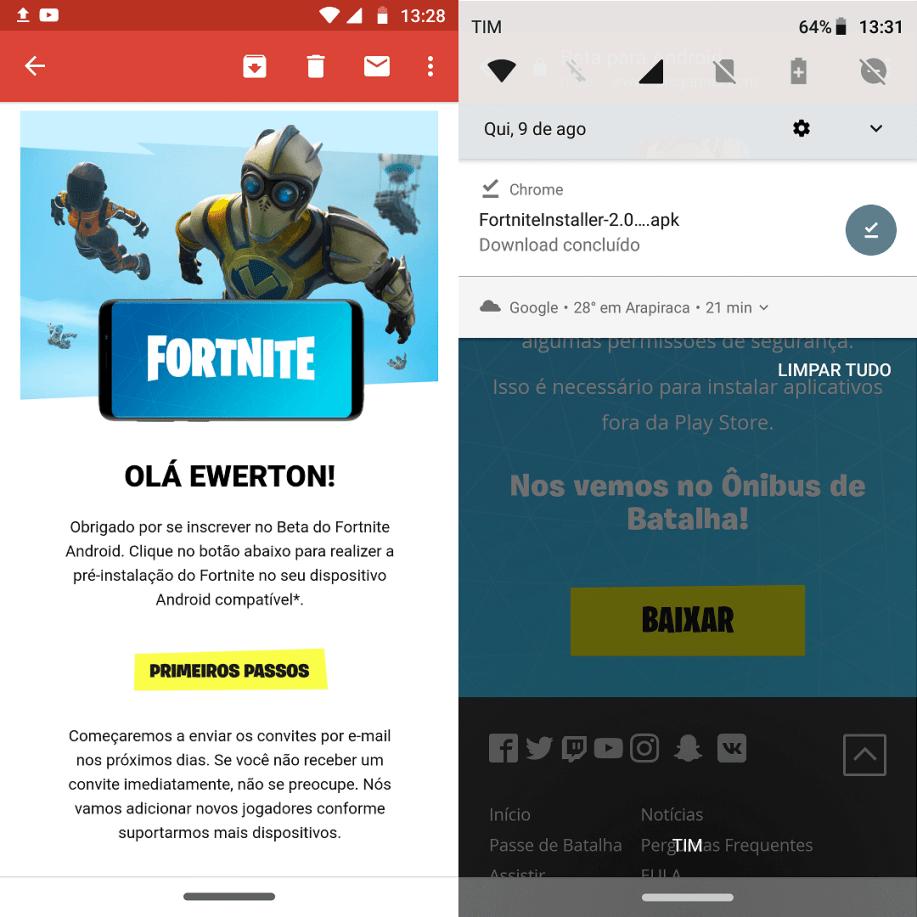 Tutorial: saiba como baixar o beta de Fortnite para Android 10
