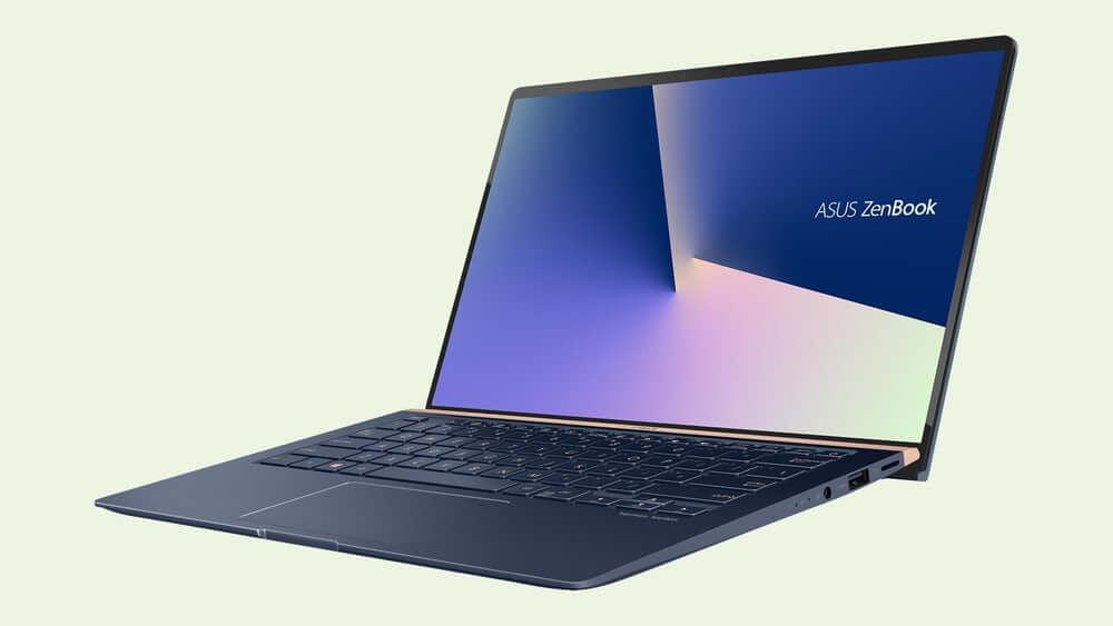 Imagem ilustrata de um dos modelos do novo ZenBook, apresentado aos jornalistas na IFA 2018.