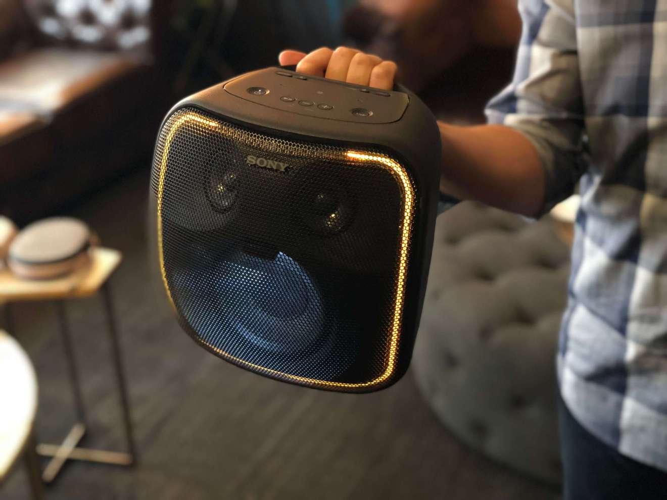 Imagem do SRS-XB50 da Sony, apresentado na IFA 2018.