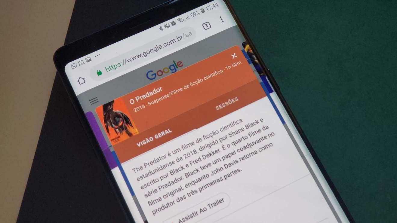Google adiciona novas opções à busca para facilitar ida ao cinema